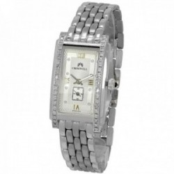 Reloj oro blanco 18k Cromwell mujer brillo mate bisel indicadores diamantes brillantes esfera blanca