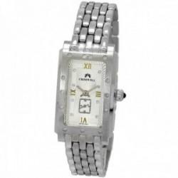 Reloj oro blanco 18k Cromwell mujer mate brillo bisel indicadores diamantes brillantes esfera blanca