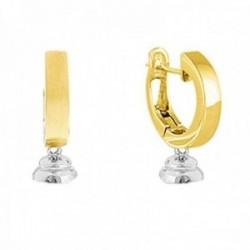 Montura oro bicolor 18k colección Daniela  20mm. sin perla cierre catalán