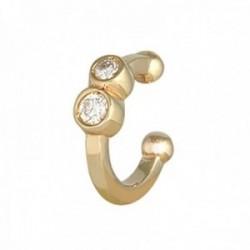 Pendiente earcuff helix oro 18k colección Sena 8.9mm diamantes brillantes 0.04ct falso piercing