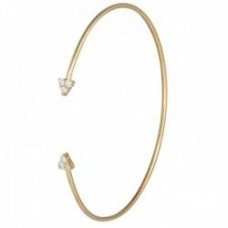 Brazalete oro 18k colección Bracelets 60mm. abierto puntas garras diamantes 0.21ct. brillantes