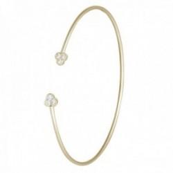 Brazalete oro 18k colección Bracelets 60mm. abierto puntas diamantes 0.21ct. brillantes