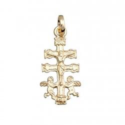 Cruz crucifijo colgante oro 9k caravaca cristo 18x10 [6242]