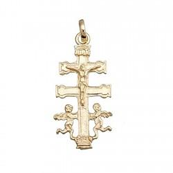 Cruz crucifijo colgante oro 9k caravaca cristo 25x12 [6243]