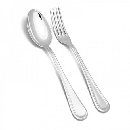 Set estuche cubiertos plata Ley 925m infantil cuchara tenedor 14.5cm. lisos