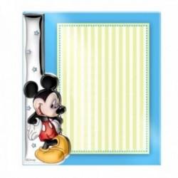 Marco portafotos sin borde metacrilato plata Ley 925m bilaminada Disney foto 15x20cm. Mickey Mouse