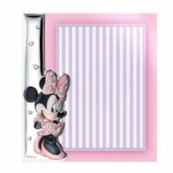Marco portafotos sin borde metacrilato plata Ley 925m bilaminada Disney foto 15x20cm. Minnie Mouse