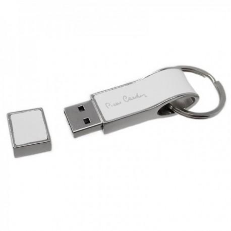 Pen Drive 16GB Pierre Cardin memoria flash USB 2.0 llavero blanco imitación cuero