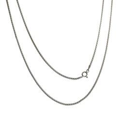 Cadena plata Ley 925m 40 cm. coreana 1,80 mm. cierre mosquetón unisex