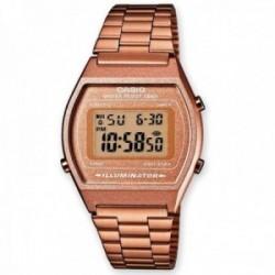 Reloj Casio B640WC-5AEF Vintage Edgy Illuminator marrón rosado
