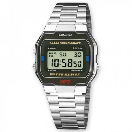Reloj Casio A163WA-1QES Vintage Iconic digital plateado