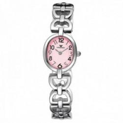 Reloj Viceroy niña 46554-75 Primera Comunión acero inoxidable caja oval rosa correa calada