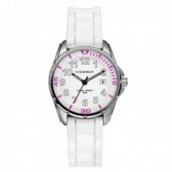 Reloj Viceroy niña 432188-05 Primera comunión detalles rosas acero inoxidable silicona