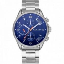 Reloj Radiant hombre RA571702 Commander multifunción esfera azul correa acero inoxidable