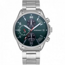 Reloj Radiant hombre RA571704 Commander multifunción esfera verde correa acero inoxidable
