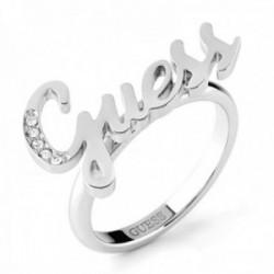 Sortija Guess Dream & Love UBR70019 acero inoxidable rodiado Swarovski logotipo