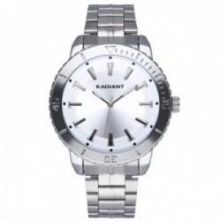 Reloj Radiant hombre RA570201 Marine plateado correa acero inoxidable
