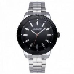 Reloj Radiant hombre RA570202 Marine negro plateado correa acero inoxidable