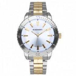Reloj Radiant hombre RA570203 Marine dorado plateado correa acero inoxidable