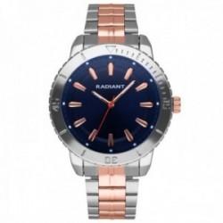 Reloj Radiant hombre RA570204 Marine esfera azul correa bicolor acero inoxidable
