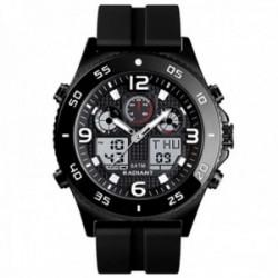 Reloj Radiant hombre RA572602 Storm analógico digital multifunción silicona detalles negros