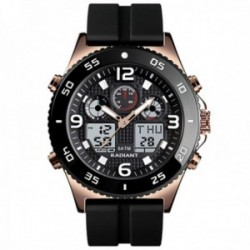Reloj Radiant hombre RA572603 Storm analógico digital multifunción silicona detalles rosados