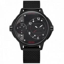Reloj Welder Moody WRK2000 The Bold dual-time acero inoxidable 316L malla milanesa