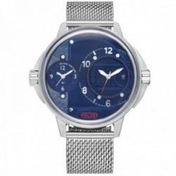 Reloj Welder Moody WRK2001 The Bold dual-time acero inoxidable 316L malla milanesa