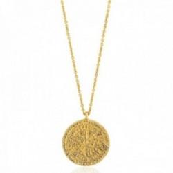 Gargantilla Ania Haie plata Ley 925m chapada oro 14k colección Coins