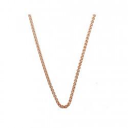 Cadena plata rosa Ley 925m 50cm. espiga 1,5mm. cordón [6333-50]