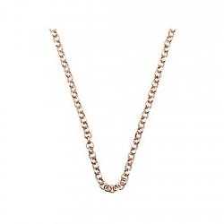 Cadena plata rosa Ley 925m 45cm. rolo 2,3mm. [6334-45]
