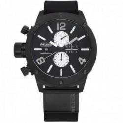 Reloj Welder Moody hombre WRK1006 The Bold acero inoxidable 316L negro silicona