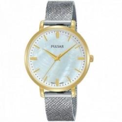 Reloj Pulsar mujer PH8460X1 Attitude acero inoxidable esfera nacarada detalles dorados