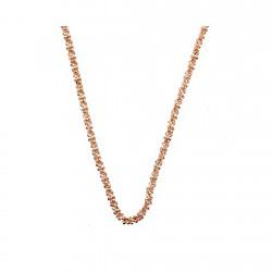 Cadena plata rosa Ley 925m 50cm. margarita 1,8mm. [6335-50]