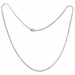 Cordón salomónico plata Ley 925m cadena 50cm. macizo ancho 1.5mm. liso cierre mosquetón