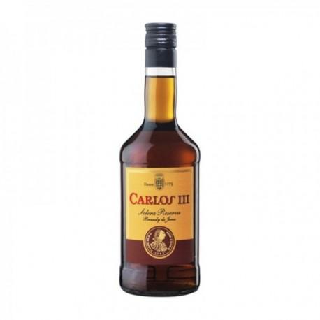 Pack 12 uds. Carlos III Brandy Solera Reserva - 0.7 L.