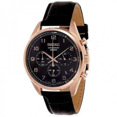 Reloj Seiko hombre SSB296P1 Neo Sports acero inoxidable piel multifunción