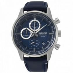 Reloj Seiko hombre SSB333P1 Neo Sports acero inoxidable piel multifunción