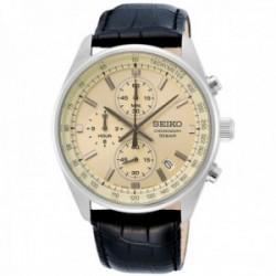 Reloj Seiko hombre SSB383P1 Neo Sports clásico piel acero inoxidable