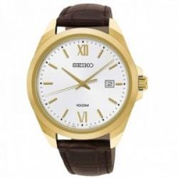 Reloj Seiko hombre SUR284P1 Neo Classic acero inoxidable acabado IP dorado