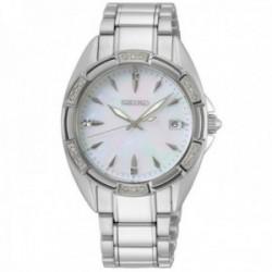 Reloj Seiko mujer SKK883P1 acero inoxidable cristales Swarovski esfera nácar caja