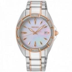 Reloj Seiko mujer SKK878P1 acero inoxidable bicolor caja cristales Swarovski esfera nácar