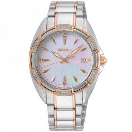 Reloj Seiko mujer SKK878P1 acero inoxidable bicolor caja cristales esfera nácar