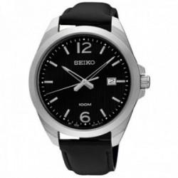 Reloj Seiko hombre SUR215P1 Neo Classic acero inoxidable negro