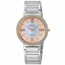 Reloj Seiko mujer SUP432P1 Solar bicolor acero inoxidable bisel cristales Swarovski