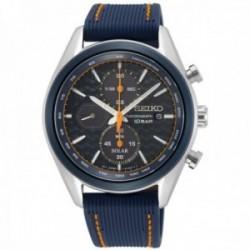 Reloj Seiko hombre SSC775P1 Macchina Sportiva Crono Solar acero inoxidable correa silicona