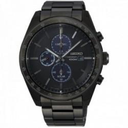 Reloj Seiko hombre SSC721P1 Solar Crono IP negro acero inoxidable