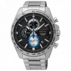 Reloj Seiko hombre SSB257P1 Neo Sports acero inoxidable multifunción detalles azules