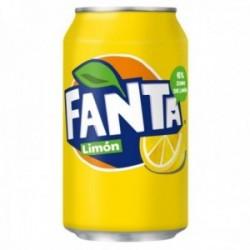 Pack 24 uds. Fanta Refresco De Limón Lata - 330 ml.