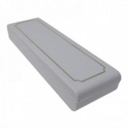 Pack 40 uds. Estuche joya caja plástico gris llavero interior dos agarres gomas espuma